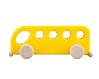 Baby Car Toy - Montessori Wooden Toy - Eco Friendly Wooden Car - Organic Baby Toy