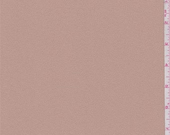 Blush Beige Polyester Crepe, Fabric By The Yard