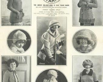Vintage Sig Ring Yarn Knitting Book