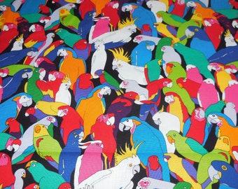 Rainbow Parrot - Alexander Henry Fabric 1 Yard
