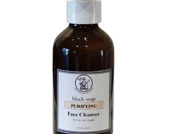 Purifying Facial Cleanser with Black Soap and Orange
