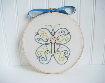 butterfly hand embroidery pattern