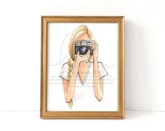 ISO (Fashion Illustration Print)