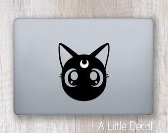 Luna Sailor Moon Macbook Decal, Macbook Sticker, Laptop Decal, Laptop Sticker Anime Manga Sticker Vinyl