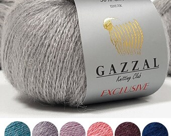 Yarn Gazzal Exclusive yarn merino wool yarn merino yarn kid mohair yarn silk yarn natural wool natural yarn wool thread merino string mohair