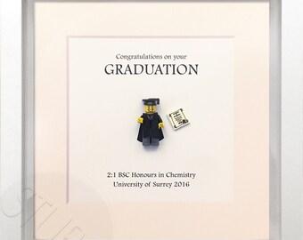 Personalised graduation Lego frame