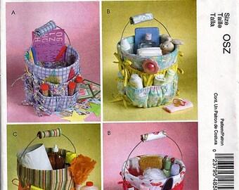 Bucket Organizers in Three Sizes / Original McCall's Crafts Uncut Sewing Pattern M4858