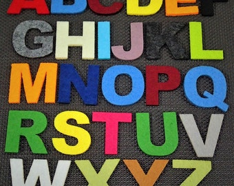 Assorted Felt Alphabets/Numbers
