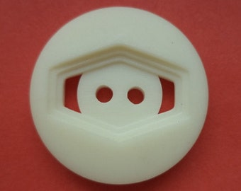 7 large buttons white wool-white 26 mm (3246)