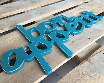 Wooden letters Bon Appetit Kitchen cabinet sign kitchen sign