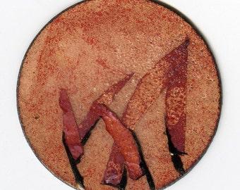 Enameled copper pendant (no bail)