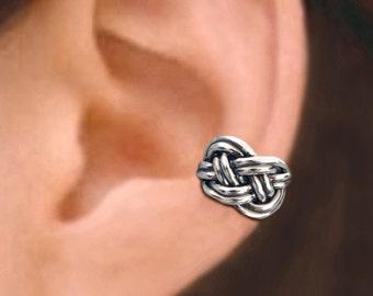 Irish Celtic Knot ear cuffs Sterling Silver earrings knot jewelry handmade knot earrings Sterling silver ear cuff men & women ear clip C-177