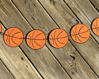 Basketball Garland | Basketball Banner | Basketball Decor | Basketball Decoration | Basketball Birthday | Sports Birthday | Photo Prop