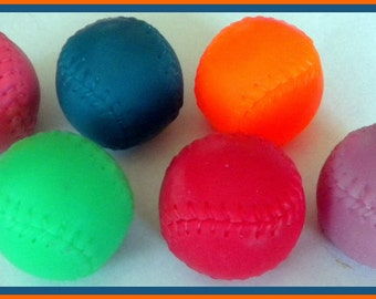 Soap - Set of 4 - Baseballs - Soap for Men and Boys - Party Favors  - Free U.S. Shipping - Gift for Dad