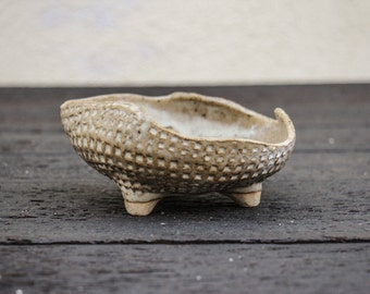 Small Vintage Retro Modern Studio Pottery Handmade Ceramic Clay Dish / Plate