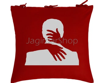 Cotton Red Embrace Your Pernted Love Designer Cushion cover For Home Decor 2PCS