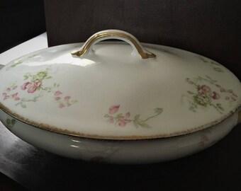 Antique Limoges CH Field Haviland Lidded Serving Bowl