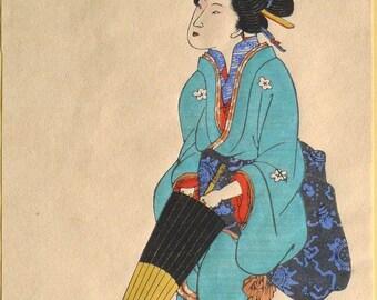 Japanese Ukiyo-e Woodblock print, Nagasaki-e 6