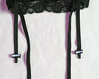 Garter belts with bows and elastic waist