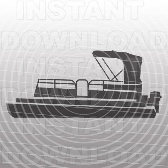 Vinyl Cutter Software >> Pontoon Boat SVG FileLake Life SVG FileBoat SVG File-Vector