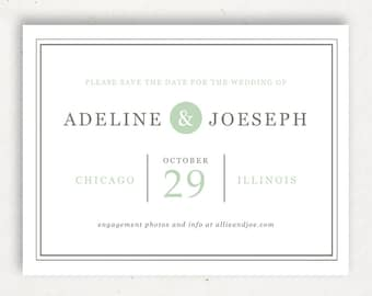Printable Save the Date Template | INSTANT DOWNLOAD | Mint Type | Word or Pages Mac & PC | 4.25x5.5 | Any Colors
