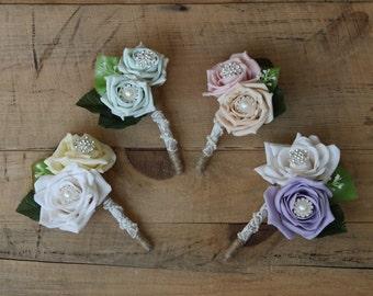 Rustic wedding boutonniere