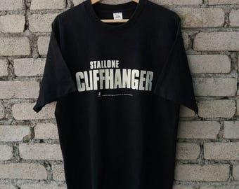 Vintage 90s Cliffhanger Movie Shirt 1993 Sylvester Stallone