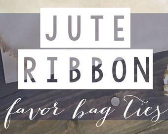 Jute Ribbon for Favor Bags! 25 Pack