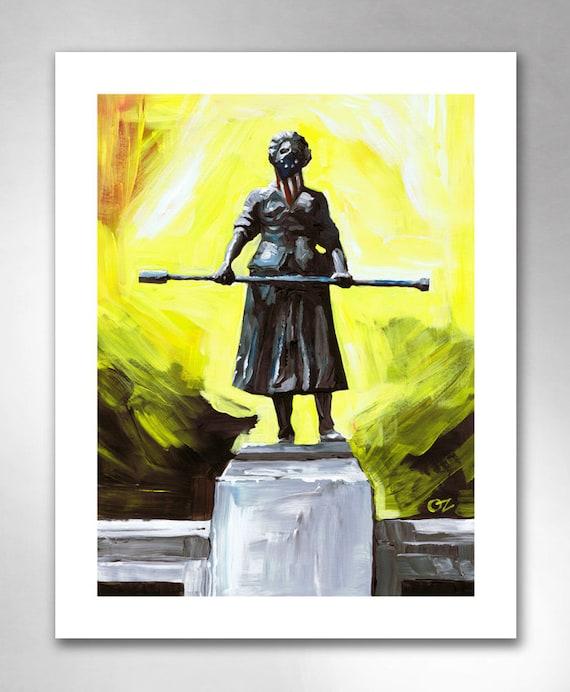 MOLLY PITCHER American Art Print 11x14 by Rob Ozborne