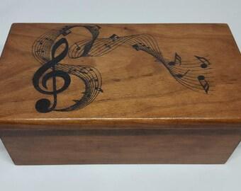 Musical note Cherry Box