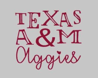 Texas A&M Aggies decal