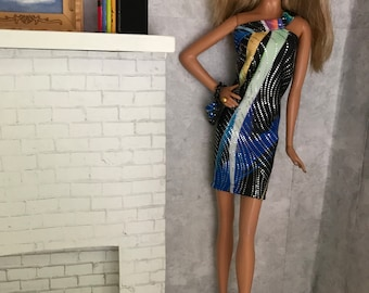 Sophisticated party dress and purse model muse barbie
