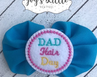 Dad Hair Day Bow