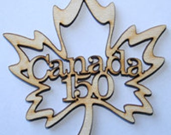 Canada 150 Wood Maple Leaf