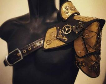 Steampunk Fantasy Medieval Vampire armor shoulder Cosplay