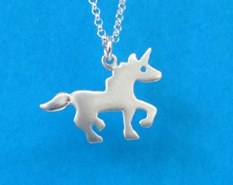 Unicorn Necklace Sterling Silver unicorn pendant Silhouette pendant Kids Necklace Teen jewelry horse jewelry girls teen gift Birthday gift