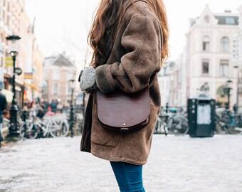 Leather Purse, Shoulder Bag, Clutch, Her, Full Grain Leather Purse, Vintage Leather Pouch, Leather Tote, Vegetable Tanned Leather Bag, Boho