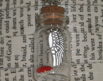 Heart & Wing Bottle Necklace