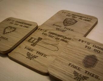 Legend of Zelda Inspired Drinks Coasters - Set of Four