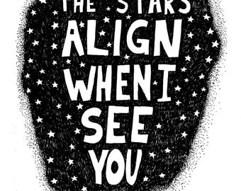 The Stars Align When I See You - Signed Archival Print, by Ani Castillo