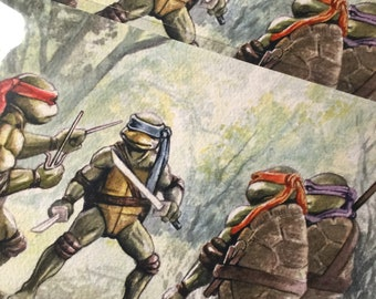 TMNT training Turtles - Archival quality print