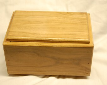 Hand-made hickory decorative box
