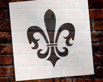 Florentine Fleur De Lis Art Stencil - Select Size- by StudioR12 - STCL919
