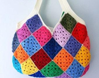 Crochet Bag, Crochet Handbag, Crochet Shoulder Bag, Summer Bag, Gift For Her