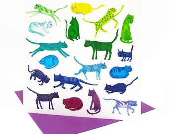 Rainbow Cats Card