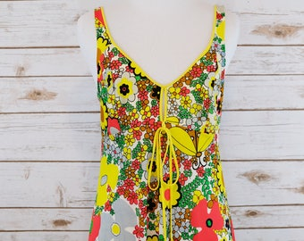 70s Sundress and Robe wrap dress set