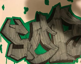 SOR Graffiti drawing