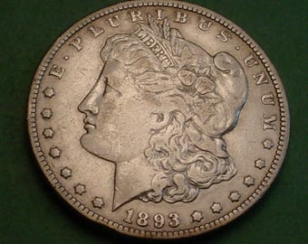 Morgan Dollar 1893-CC VF Small Rim Bruise Obv Bottom Priced to Sell <> # ET3667