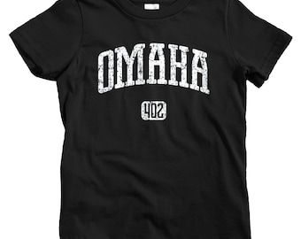 Kids Omaha 402 T-shirt - Baby, Toddler, and Youth Sizes - Omaha Nebraska Tee - 4 Colors