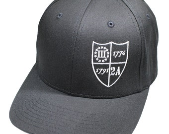 Molon Labe Patriotic Flexfit Twill Hat - 2nd Amendment Shield